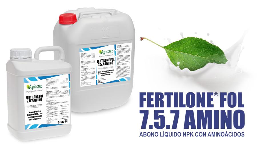 Abono foliar NPK con aminoácidos Fertilone Fol
