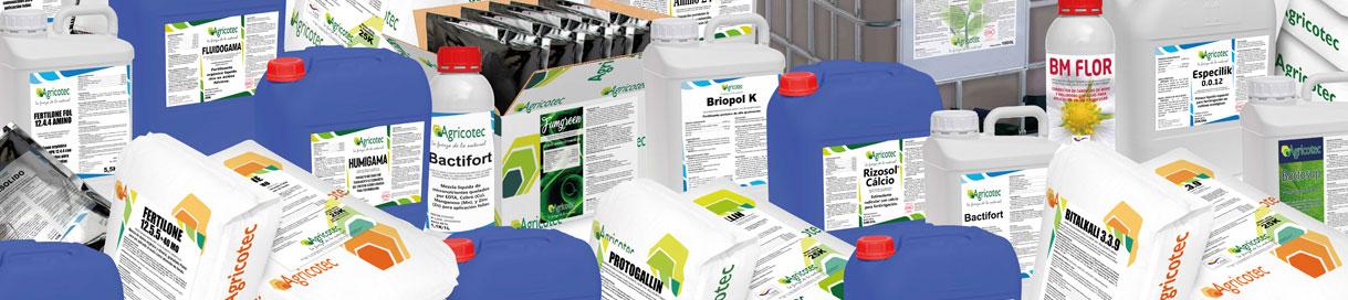 Gama productos Agricotec catálogo