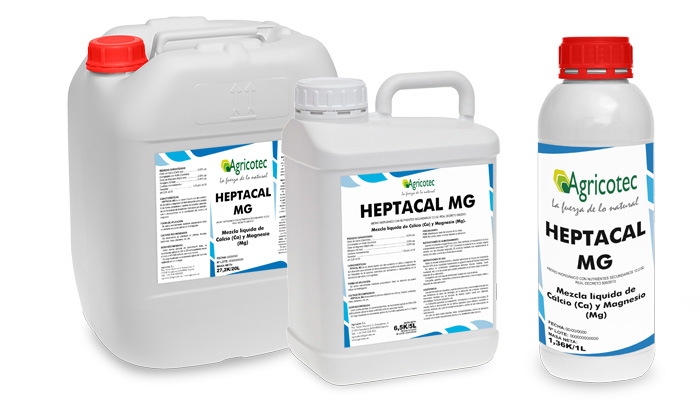 Heptacal Mg Corrector carencias de Calcio y Magnesio envases producto